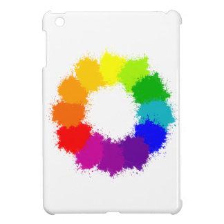 Coque iPad Mini Artiste de roue de couleur et professeur d'art