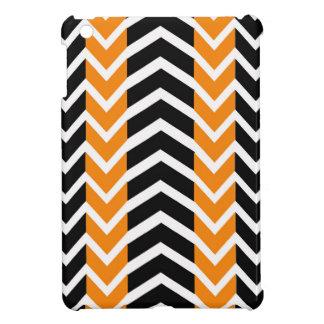 Coque iPad Mini Baleine orange et noire Chevron