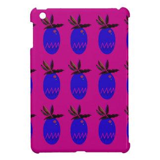 Coque iPad Mini Bleu de rose d'ananases de conception
