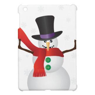 Coque iPad Mini Bonhomme de neige de Noël avec l'illustration de