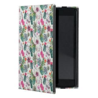 Coque iPad Mini Cactus exotique d'aquarelle de Boho et motif