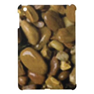Coque iPad Mini cailloux bruns bronzages