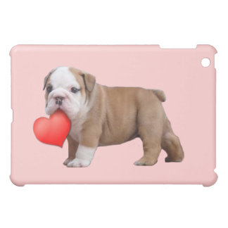 Coque iPad Mini Caisse de point d'ipad de chiot du bouledogue de