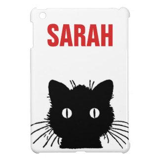 Coque iPad Mini Chat noir Personnalised