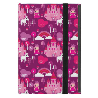 Coque iPad Mini château de princesse et arc-en-ciel de licorne
