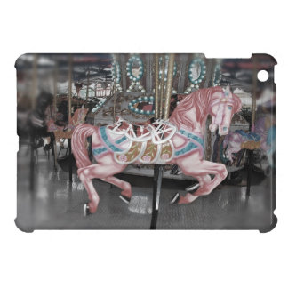 Coque iPad Mini Cheval rose de carrousel