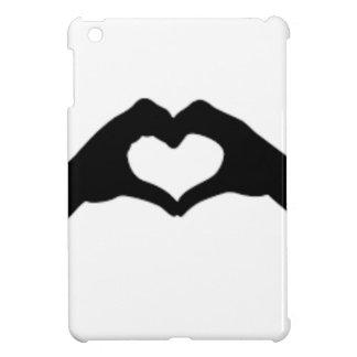 Coque iPad Mini Coeur-Amour-Main-Silhouette