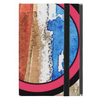 Coque iPad Mini collage d'art abstrait, médias mélangés et