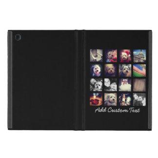 Coque iPad Mini Collage de photo avec l'arrière - plan noir