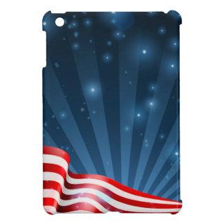 Coque iPad Mini Conception d'arrière - plan de drapeau américain