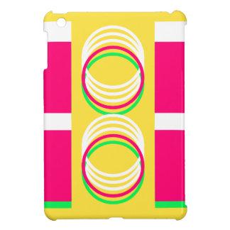 Coque iPad Mini Conception moderne jaune rose 4Alison