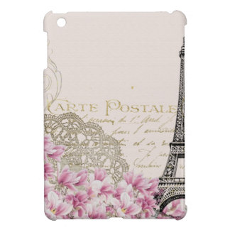 Coque iPad Mini Copie vintage de Tour Eiffel de Paris