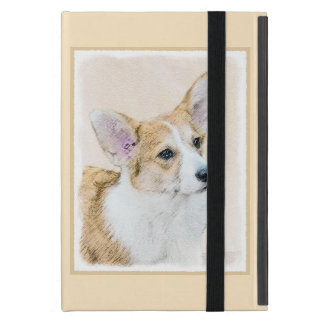 Coque iPad Mini Corgi de Gallois de Pembroke peignant - art