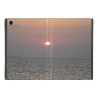 Coque iPad Mini Coucher du soleil au-dessus cas d'iPad de mer de