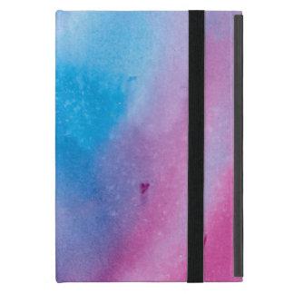 Coque iPad Mini Couleur pour aquarelle de marbre rose et bleue