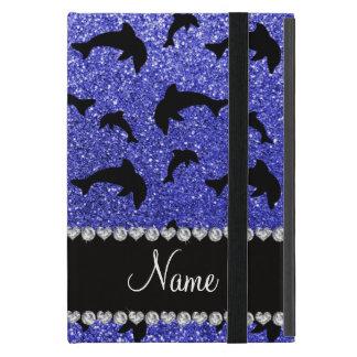 Coque iPad Mini Dauphins bleus au néon nommés personnalisés de