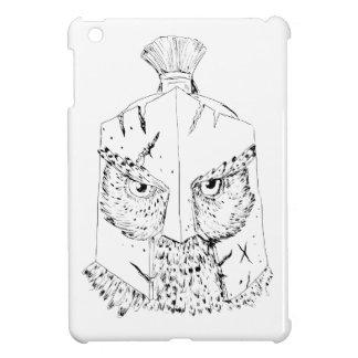 Coque iPad Mini Dessin spartiate de casque de hibou à cornes