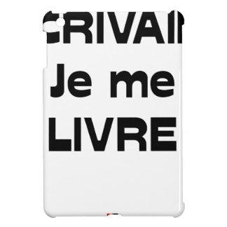 Coque iPad Mini ÉCRIVAIN, je me LIVRE - Jeux de Mots