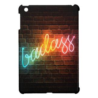 Coque iPad Mini Enseigne au néon d'arc-en-ciel de Badass