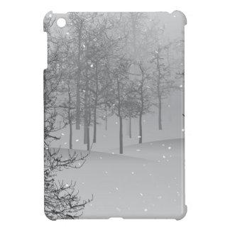 Coque iPad Mini Faveur argentée de Noël de neige