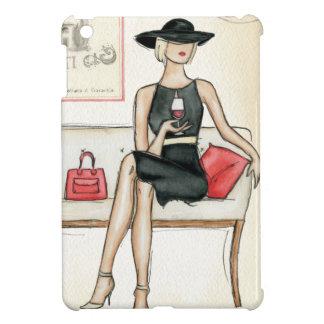 Coque iPad Mini Femme buvant du vin rouge