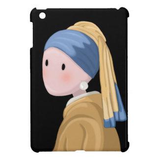 Coque iPad Mini Fille avec une boucle d'oreille de perle