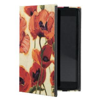 Coque iPad Mini Fleurs rouges