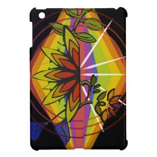 Coque iPad Mini Floral brillant dans l'ordre d'arc-en-ciel