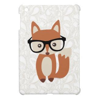 Coque iPad Mini Fox w/Glasses de bébé de hippie