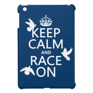 Coque iPad Mini Gardez le calme et la course sur (pigeons) (toutes
