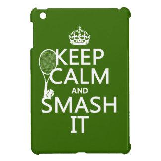 Coque iPad Mini Gardez le calme et le fracas il (tennis) (toute