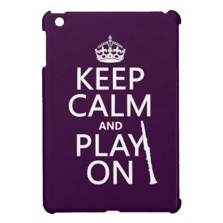 Coque iPad Mini Gardez le calme et le jeu sur (clarinette) (toute