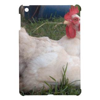 Coque iPad Mini Gloussent le poulet blanc