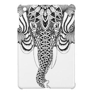 Coque iPad Mini Illustration d'éléphant de mandala, dessinant.