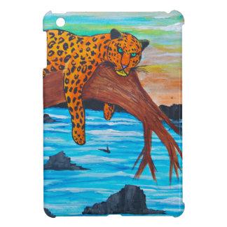 Coque iPad Mini Jaguar reposant sur la branche