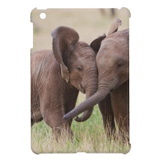 Coque iPad Mini Jeune jeu d'éléphants africains