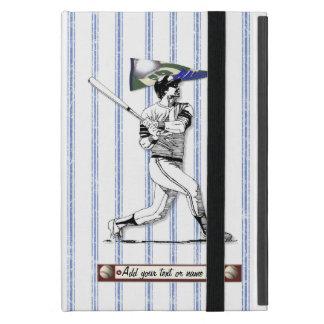 Coque iPad Mini Joueur de baseball et fanion