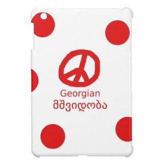 Coque iPad Mini Langue et conception géorgiennes de symbole de