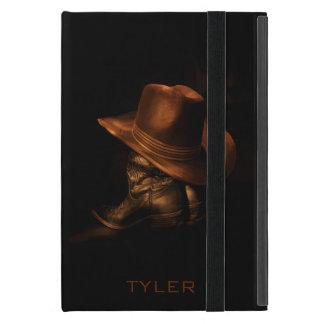 Coque iPad Mini Le casquette de cowboy et les bottes en cuir
