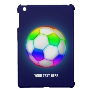 Coque iPad Mini Le football coloré Girly du football |