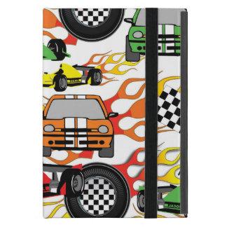 Coque iPad Mini Le motif de voiture de course d'amusement badine