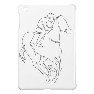 Coque iPad Mini Ligne continue de course de chevaux de jockey
