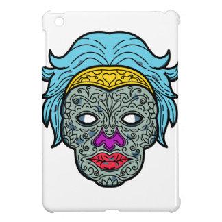 Coque iPad Mini Ligne mono de Calavera de crâne femelle de sucre