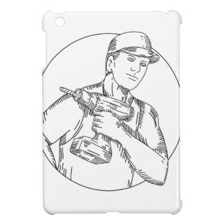 Coque iPad Mini Ligne mono de foret sans fil de bricoleur