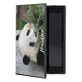 Coque iPad Mini mini cas folio d'iPad, panda, noir