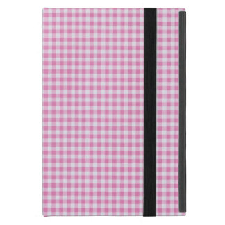Coque iPad Mini Motif Checkered de guingan - blanc rose