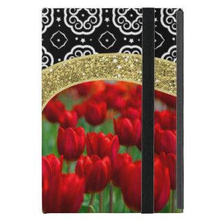 Coque iPad Mini Motif décoratif de BW de tulipes de parties