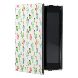 Coque iPad Mini Motif en pastel d'aquarelle de cactus