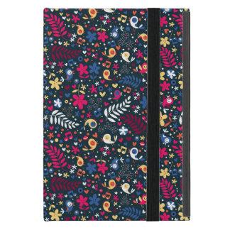 Coque iPad Mini motif mignon d'oiseaux et de fleurs