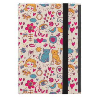 Coque iPad Mini Motif romantique coloré